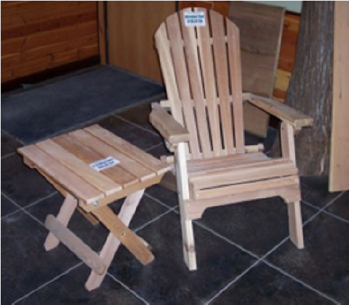 Adirondack Furniture Table And Chair
