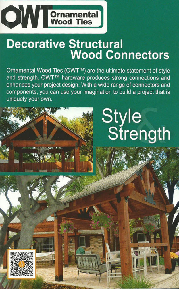 Ozco Decorative Structural Wood Connectors