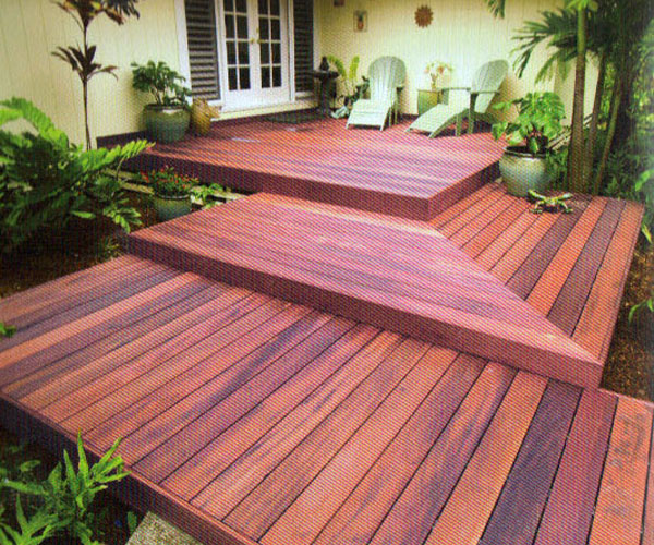 3 Tier Tigerwood Deck